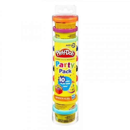 Hasbro Play-Doh Набор пластилина для праздника из 10 мини-баночек в тубусе 22037