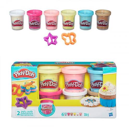 Hasbro Play-Doh Набор из 6 баночек с конфетти B3423