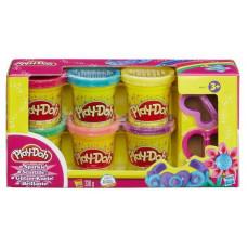 Hasbro Play-Doh Набор пластилина из 6 баночек с блёстками A5417