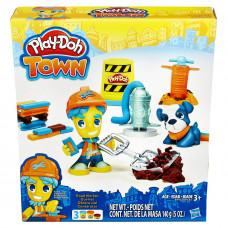 Hasbro Play-Doh Город: дорожный рабочий и щенок B5972