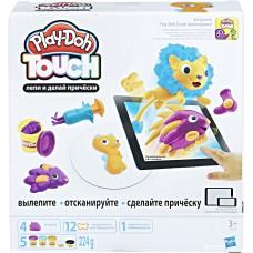 """Hasbro Play-Doh PLAYSETS Интерактивный набор с пластилином «Создай мир: Причёски"""" Плей Дох B9018"""