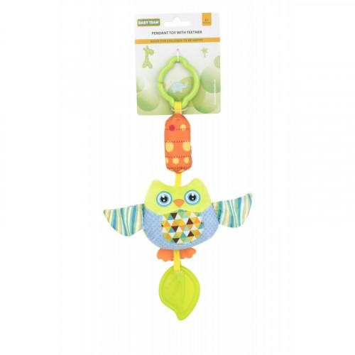 Мягкая игрушка-колокольчик сова 8520