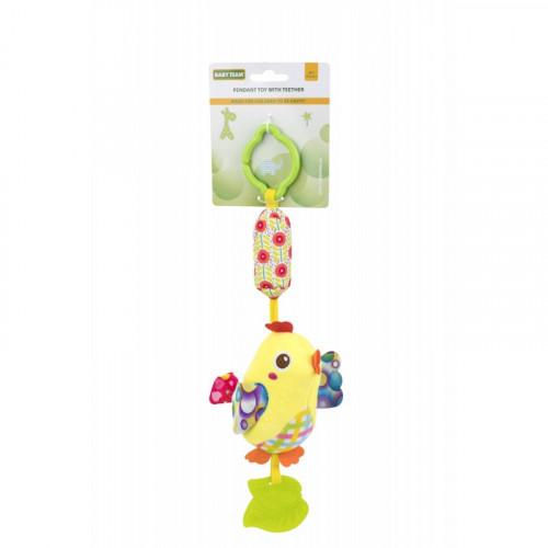 Мягкая игрушка-колокольчик цыпленок желтый 8520