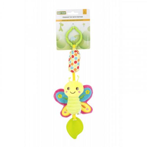 Мягкая игрушка-колокольчик бабочка 8520