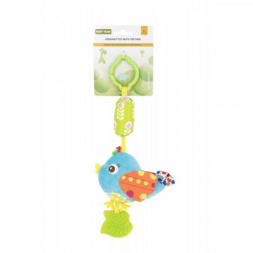 Мягкая игрушка-колокольчик птичка голубая 8520