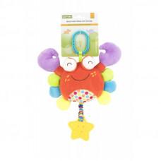 Мягкая многофункциональная игрушка-прорезыватель Краб 8533