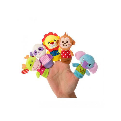 Набор игрушек на пальцы «Веселые зверушки», 5 шт., Baby team, 6+,  8715