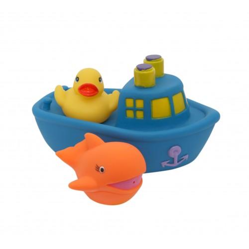 """Набор игрушек для ванны """"Корабль друзей"""" 9000_синий"""