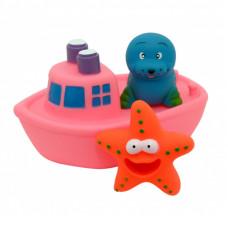 """Набор игрушек для ванны """"Корабль друзей"""" 9000_розовый"""