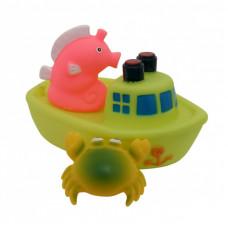 """Набор игрушек для ванны """"Корабль друзей"""" 9000 желто-салатовый"""