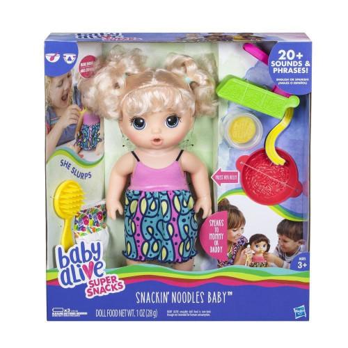 Hasbro Baby Alive кукла - Малышка и лапша C0963