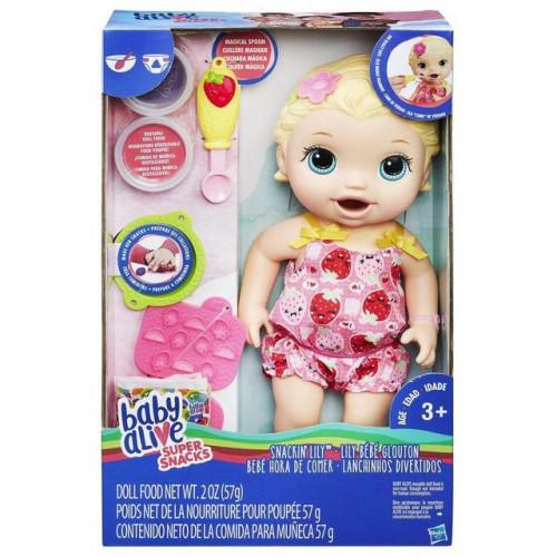 Hasbro Baby Alive Кукла Малышка Лили со снеками C2697