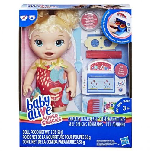 """Hasbro Baby Alive Кукла """"Малышка и еда"""" E1947"""