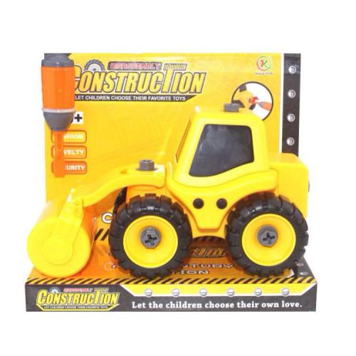 Трактор с катком, разборная модель с отверткой KL702-4