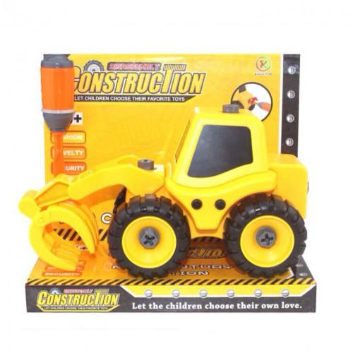 Трактор с погрузчиком, разборная модель с отверткой KL702-5