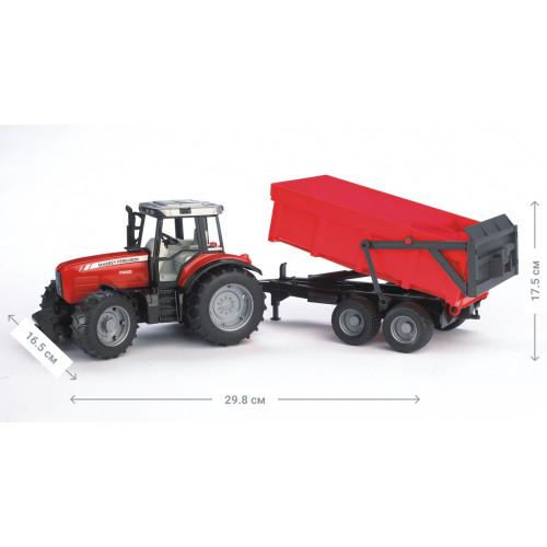 Трактор BRUDER Massey Ferguson 7480 c прицепом, М1:16 02045