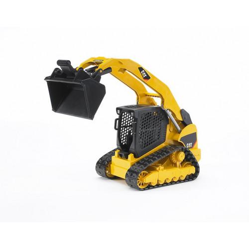 Bruder - Машинка игрушечная - мини-погрузчик гусеничный CAT с ковшом  02136