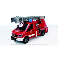 Пожарная машина BRUDER МВ Sprinter с лестницей (водяная помпа+свет и звук) М1:16 02532