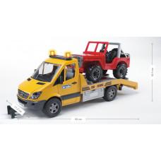 Эвакуатор BRUDER MB Sprinter (свет+звук) + джип М1:16 02535