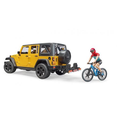 Джип BRUDER Jeep Rubicon с фигуркой велосипедиста на спортивном байке 02543