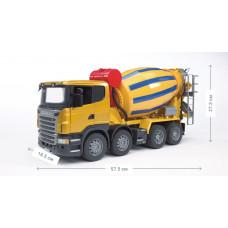 Бетоновоз BRUDER SCANIA R-series жёлтый М1:16 03554