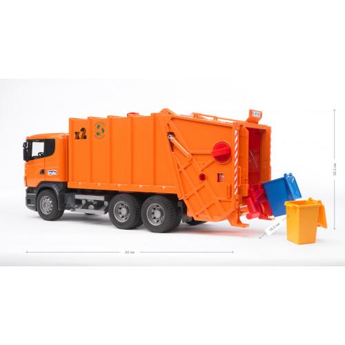 Мусоровоз BRUDER SCANIA R-R-series оранжевый М1:16 03560