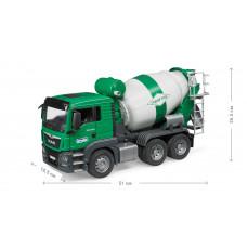 Бетоновоз BRUDER MAN TGS, зелёный, М1:16 03710