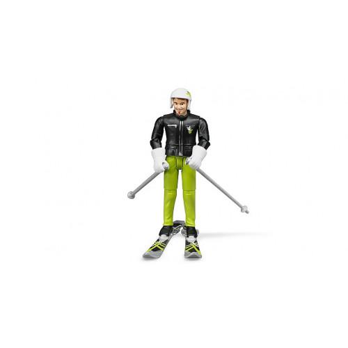 Bruder - Игрушка - фигурка лыжника 10,7 см 60040