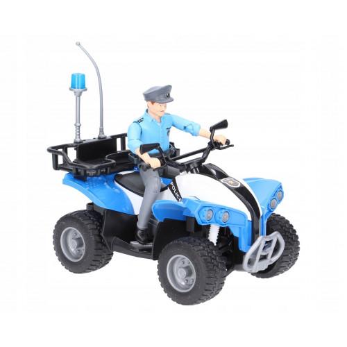 Полицейский квадроцикл BRUDER + фигурка полисмен 63010