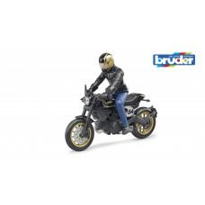 BRUDER  Набор:  фигурка человека с мотоциклом, арт.63050