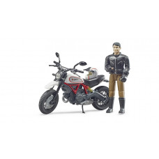 BRUDER  Набор:  фигурка человека с мотоциклом, арт.63051