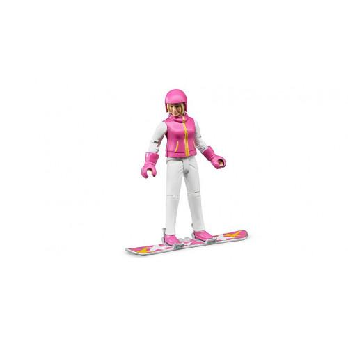 Bruder  Игрушка  фигурка сноубордистки Bruder 10,7 см 60420