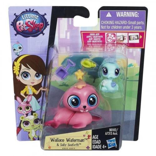 Littlest Pet Shop Зверюшка и ее малыш Wallace Waterman/Sally Seaforth B0102