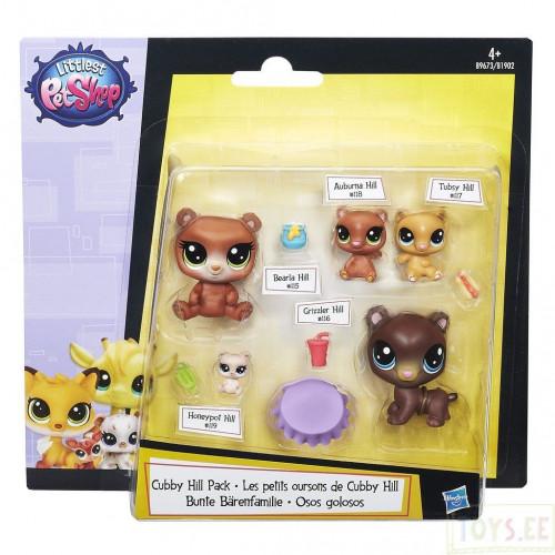 Littlest Pet Shop Мини-набор зверюшек «Большая семейка» (Семейство медведей) B9673