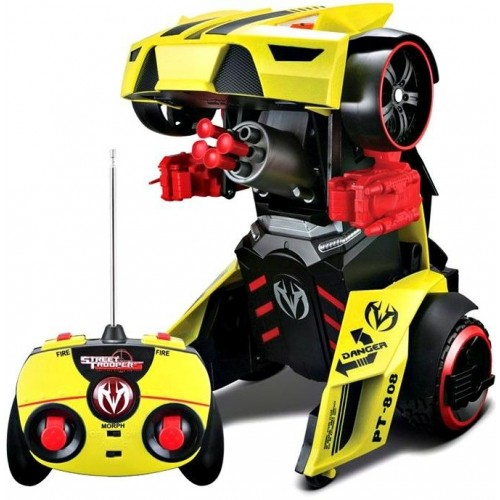 Автомодель - трансформер Maisto на р / у Street Troopers PT808 жовто-чорний 81108 yellow/black
