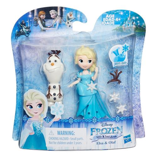 Disney Frozen Маленькая кукла Холодное Сердце с другом «Эльза и Олаф» B5186