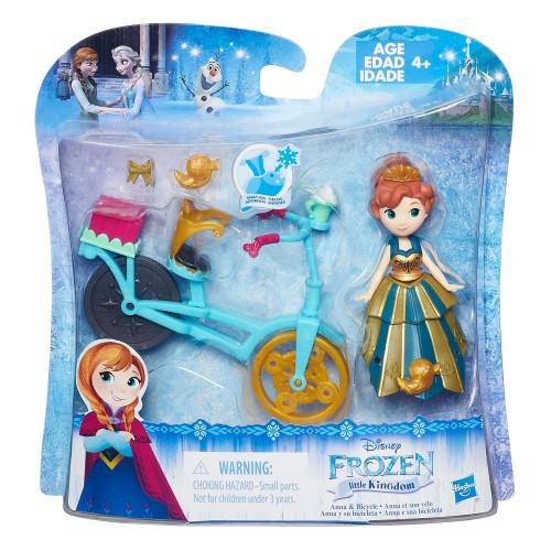 Disney Frozen Маленькая кукла Холодное сердце с аксессуарами «Анна на велосипеде» B5188/B5190