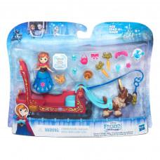 Disney Frozen Маленьая кукла Холодное сердце »Анна, Свен и сани» B5196