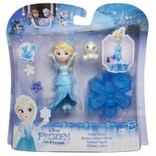 Disney Frozen Маленькая кукла Холодное Сердце на движущейся платформе-снежинке «Ельза» B9873