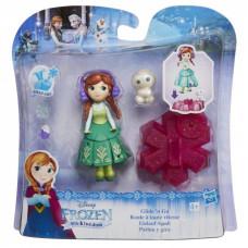 Disney Frozen Маленькая кукла Холодное Сердце на движущейся платформе-снежинке «Анна» B9874