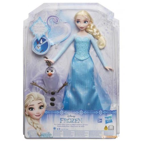 Disney Frozen FRZ Модная кукла Эльза с волшебными силами и Олафом  E0085