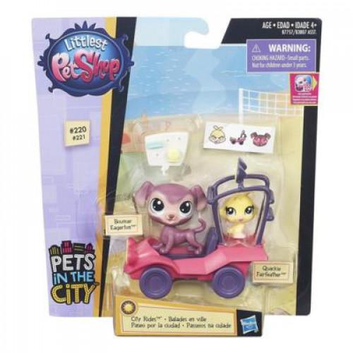Littlest Pet Shop Городской транспорт Bouncer Eagerton and Quackie Fairfeather B7757