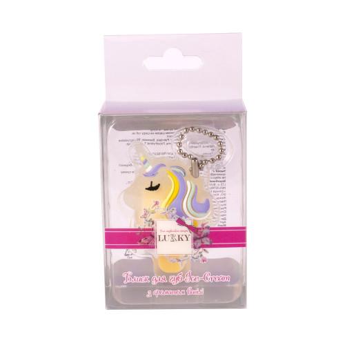 Lukky бальзам для губ Ice-cream Unicorn с нежным ароматом ванили 1,2 г, с подвеской-цепочкой, T16145