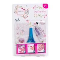 Lukky Дизайнер-Сет №1 для дизайна ногтей с лаком 011 5,5 мл. , стик для ногтей, кист, фиолетовая пом с блестками T16786