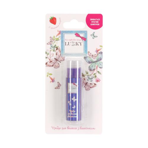 Lukky цвет фиолетовый мелок для .волос с блёстками с ароматом клубники,10 г,блистер T18858