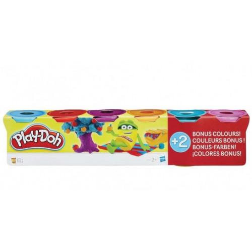 Hasbro PD Набор пластилина из 6 баночек Play-Doh по цене 4-х  B6752
