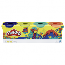 Hasbro Play-Doh Набор пластилина из 4х банок по 112 г, E4867 PD WILD  B5517