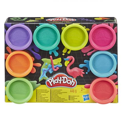 Hasbro Play-Doh Игровой Набор Плей-До 8 цветов NEON E5044/E5063