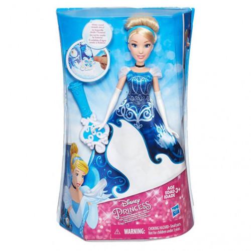 Disney Princess Модная кукла Принцесса Золушка в юбке с проявляющимся принтом B5299