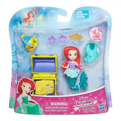 Disney Princess Маленькая кукла Принцесса Ариель с аксессуарами B5336